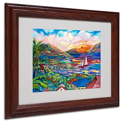 Trademark Fine Art Sunset  11 x 14 Wood Frame Art