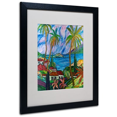 Trademark Fine Art Tropical Paradise  16 x 20 Black Frame Art