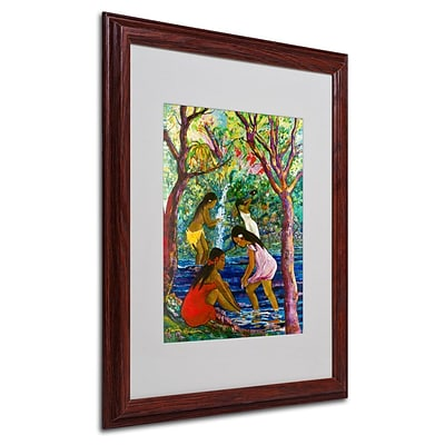Trademark Fine Art Four Girls In Maui  16 x 20 Wood Frame Art