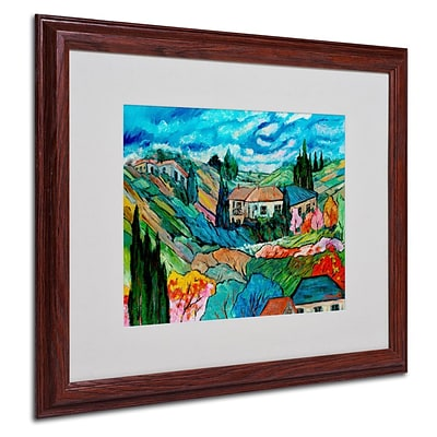 Trademark Fine Art Valley House  16 x 20 Wood Frame Art
