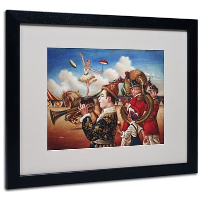 Trademark Fine Art Circus Hit Parade 16 x 20 Black Frame Art