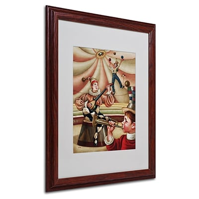 Trademark Fine Art Fiesta Allegro 16 x 20 Wood Frame Art