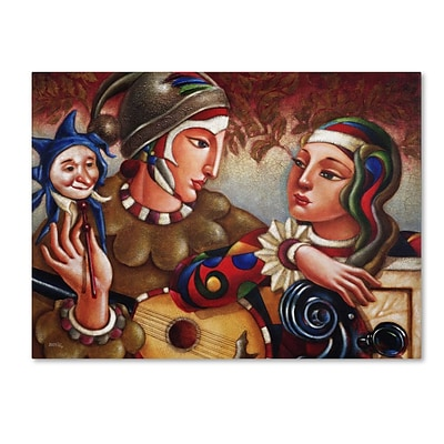 Trademark Fine Art Romanza 14 x 19 Canvas Art