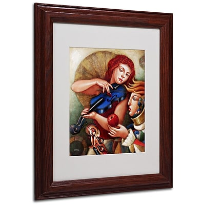 Trademark Fine Art Seduccion 11 x 14 Wood Frame Art