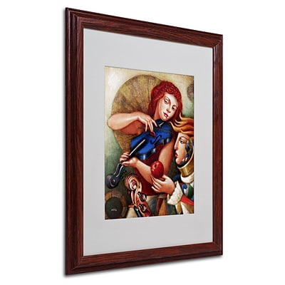 Trademark Fine Art Seduccion 16 x 20 Wood Frame Art