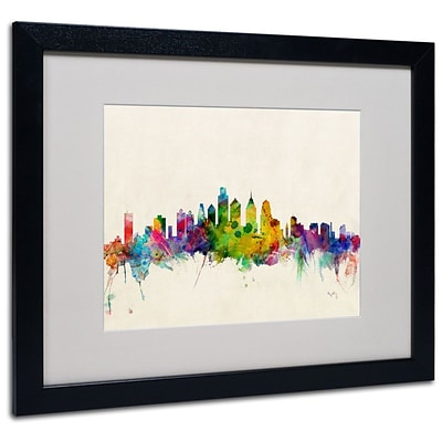 Trademark Fine Art Philadelphia, PA 16 x 20 Black Frame Art