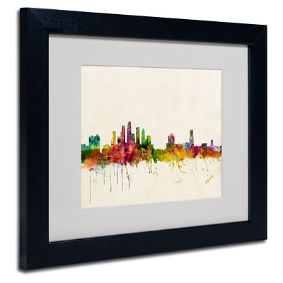 Trademark Fine Art Tampa, Florida 11 x 14 Black Frame Art