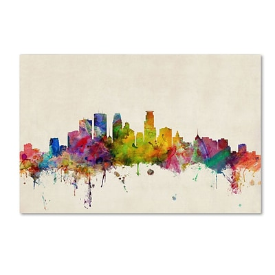 Trademark Fine Art Minneapolis, Minnesota 22 x 32 Canvas Art