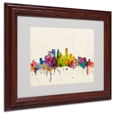 Trademark Fine Art Minneapolis, Minnesota 11 x 14 Wood Frame Art
