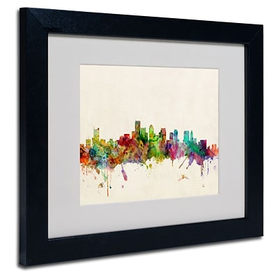 Trademark Fine Art Boston, Massachusetts 11 x 14 Black Frame Art