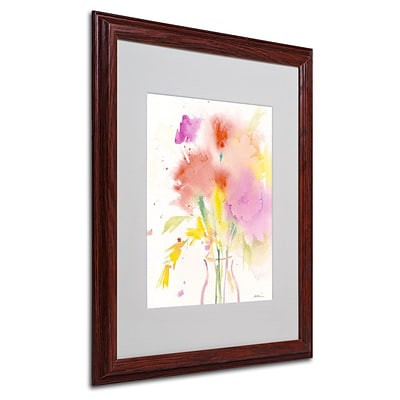 Trademark Fine Art Bouquet Impressions 16 x 20 Wood Frame Art