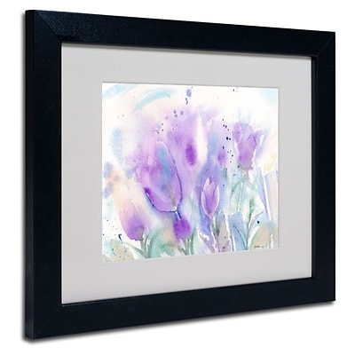 Trademark Fine Art Purple Blues 11 x 14 Black Frame Art