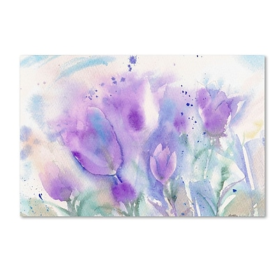 Trademark Fine Art Purple Blues 16 x 24 Canvas Art