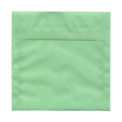 JAM Paper® 6.5 x 6.5 Square Envelopes, Mint Green Translucent Vellum, 25/pack (2812719)
