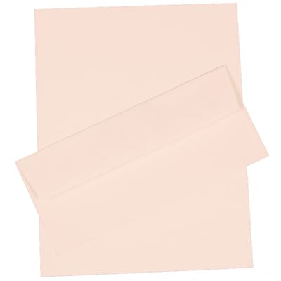 JAM Paper® Business Stationery Set, 100 Sheets of Paper and 100 #10 Envelopes, Strathmore Bright White, set of 100 (303024434)