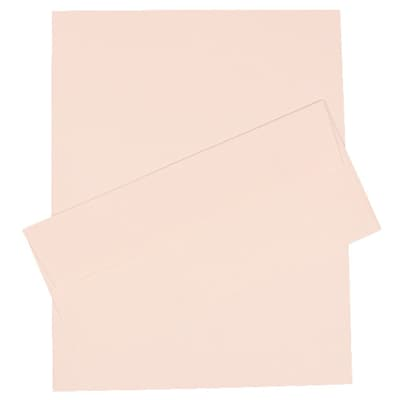 JAM Paper® #10 Business Stationery Set, 4.125 x 9.5, Strathmore Bright White Pinstripe, 100/Pack (303024437)