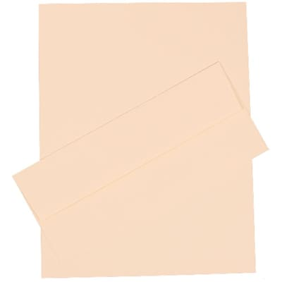 JAM Paper® #10 Business Stationery Set, 4.125 x 9.5, Strathmore Natural White Linen, 100/Pack (303024441)