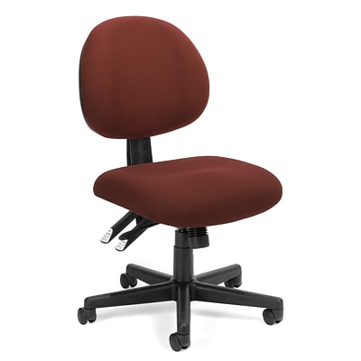 OFM™ Fabric 24-Hour Computer Task Chair, Burgundy