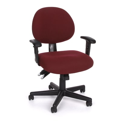 OFM™ Fabric 24-Hour Computer Task Chair With Arms; Burgundy