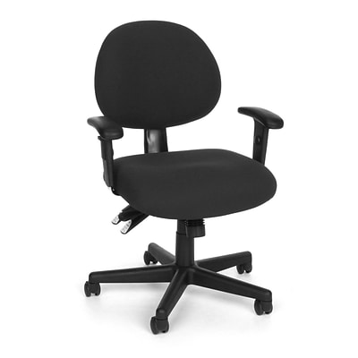 OFM™ Fabric 24-Hour Computer Task Chair With Arms, Black