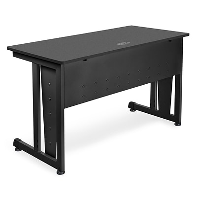 OFM™ 24 x 48 Steel Modular Computer/Privacy Table; Graphite/Black