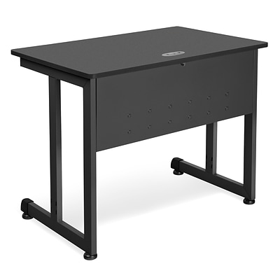 OFM™ 24 x 36 Steel Modular Computer/Privacy Table; Graphite/Black