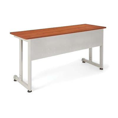 OFM 20 x 55 Steel Modular Training/Utility Table, Cherry/Silver (55141-CHY)