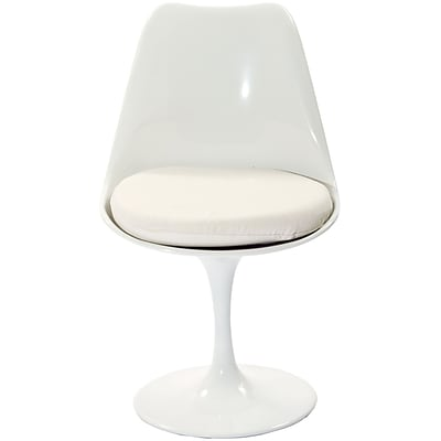 Modway Lippa 32 1/2H Padded Fabric Dining Side Chair, White