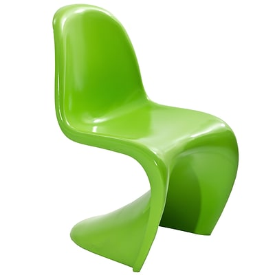 Modway Slither 33H ABS Plastic Dining Side Chair, Green