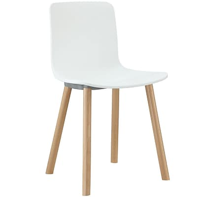 Modway Sprung 31H Plastic Modern Dining Side Chair, White