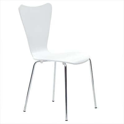 Modway Ernie 34H Solid Plywood Dining Side Chair, White