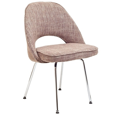 Modway Cordelia 33H Tweed Fabric Dining Side Chair, Oatmeal