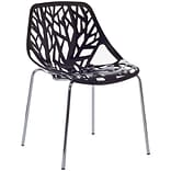 Modway Stencil 31H Plastic Dining Side Chair, Black
