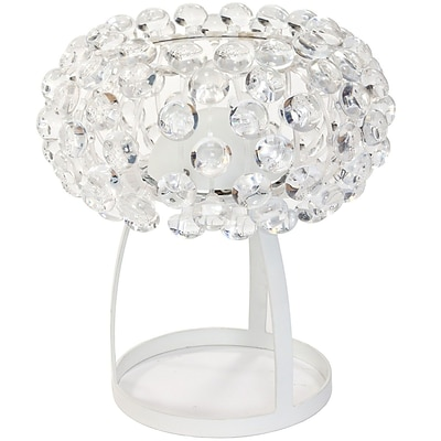 Modway Halo Acrylic Crystal Table Lamp, Clear