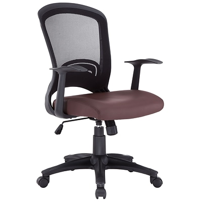 Modway Pulse Vinyl Mid Back Office Chair, Brown