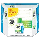 Paper Mate® Liquid Paper® Fast Dry Correction Fluid; 22 ml, White, 3/Pack