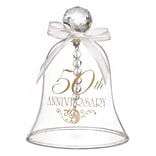 HBH™ 50th Anniversary Glass Bell With Faceted Crystal Handle, Clear