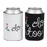 HBH™ 4 1/4(H) I Do and I Do Too Can Cooler Set, Black/White