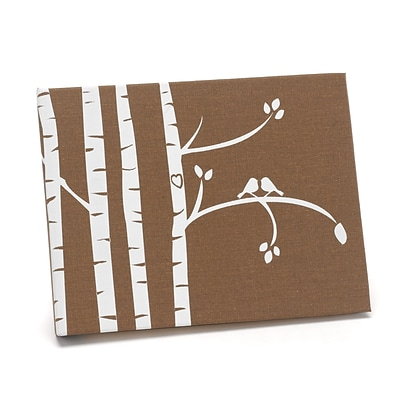 HBH™ Birch Trees Guest Book, Taupe