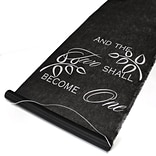 HBH™ Two Become One Aisle Runner With Pull Cord, 36 x 100, Black