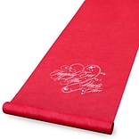 HBH™ Happily Ever After Aisle Runner With Pull Cord, 36 x 100, Red