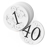 HBH™ Round Filigree Table Number Cards 1-40