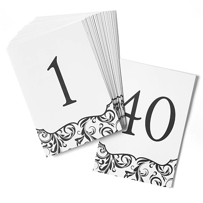 HBH™ Flourish Table Number Cards 1-40