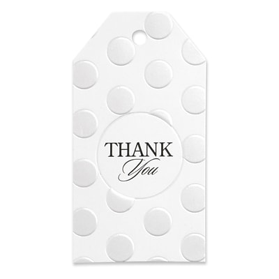HBH™ Pearl-Dotted Thank You Favor Cards, White