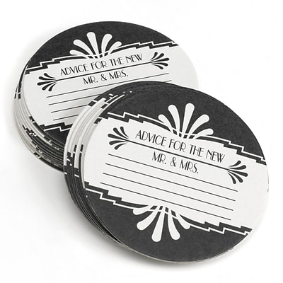 HBH™ Art Deco Coasters, White and Black