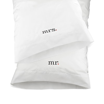 HBH™ Mr. and Mrs. Together Pillowcases, White