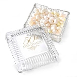 HBH™ 50th Anniversary Square Glass Candy Dish, Clear