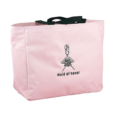 HBH™ 12 x 6 1/2 x 14 Maid Of Honor Tote Bag With Black Handles, Light Pink