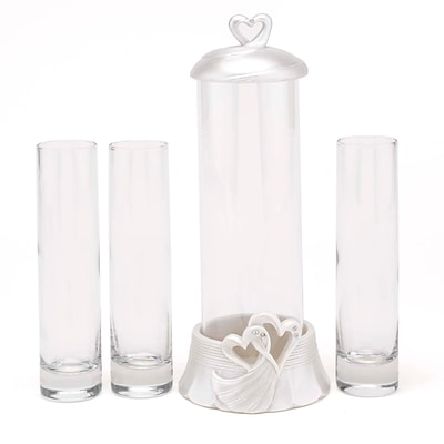 HBH™ Hearts Sand Ceremony Set, Clear/Ivory