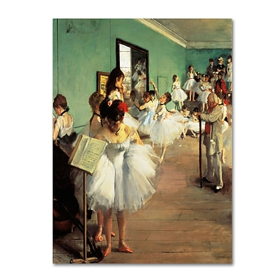 Trademark Fine Art Dance Examination 1873-74 35 x 47 Canvas Art